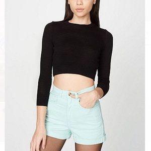 American Apparel Mint/Teal Shorts